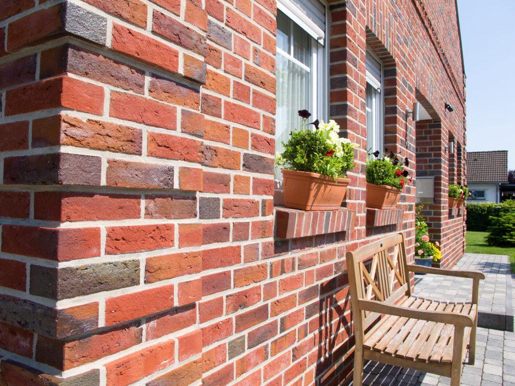 namo fasado apdaila klinkerinėmis plytelėmis